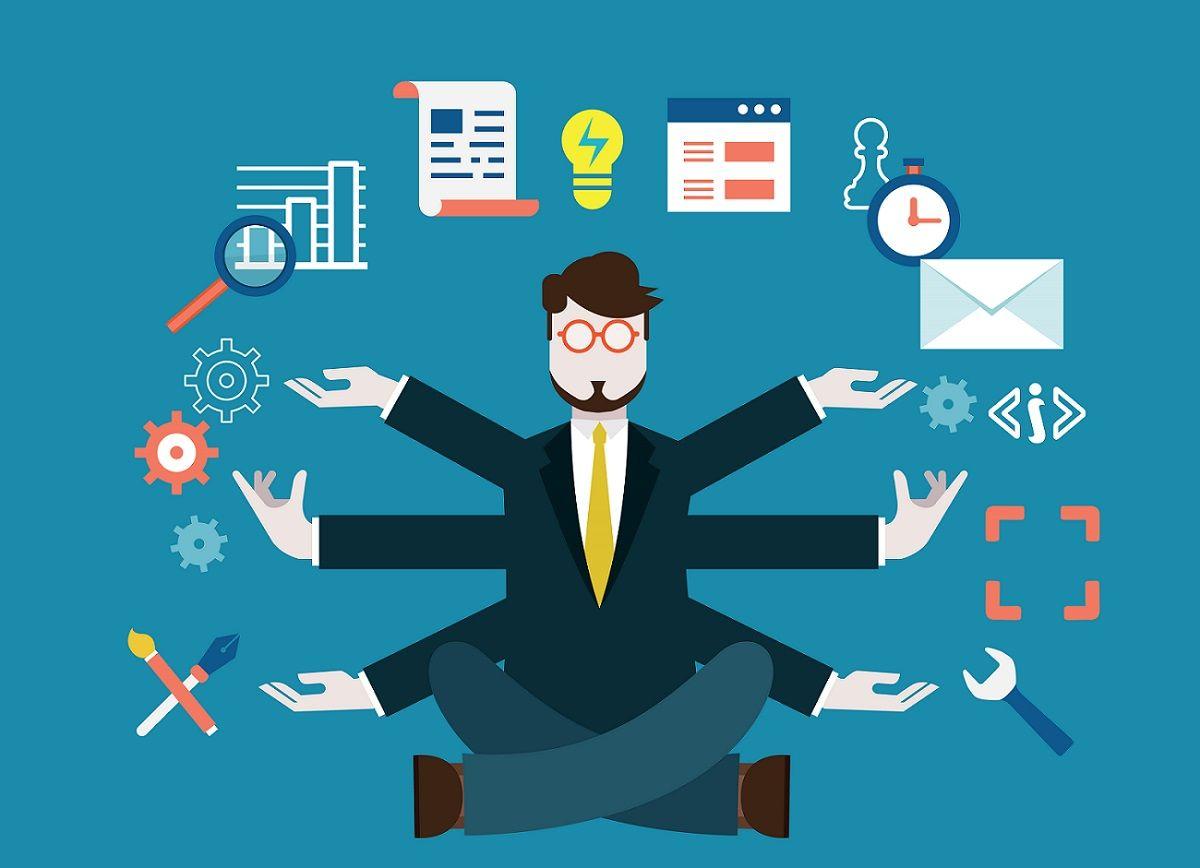 Un project manager gestionando una buena cantidad de tareas